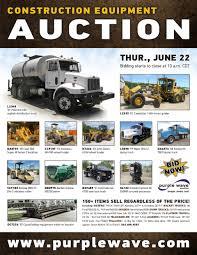 sold june 22 construction equipment auction purplewave inc