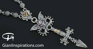 giani inspirations underworld keys of hades greek gothic silver