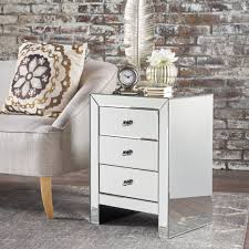 3 drawer accent table lucille mirror finished 3 drawer accent table gdf studio