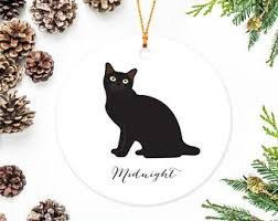 custom cat ornament etsy