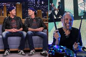 lars ulrich accepts will ferrell and chad smith u0027s drum off