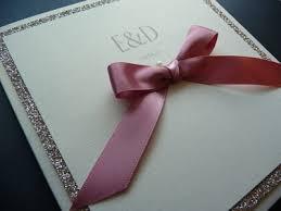 Wedding Invitations With Ribbon Pocket Card Wedding Invitation With Ribbon Bow