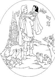 printable version of snow white printable prince and princess coloring pages click to see version of