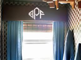 how to create a stenciled monogram valance hgtv