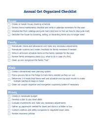 get organized for the year printable checklist