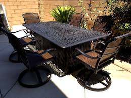 7 Piece Aluminum Patio Dining Set - propane fire pit table set 7 piece cast aluminum patio furniture