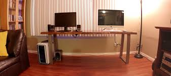Ikea Long Wood Computer Desk For Two Decofurnish by Desk Computer Long Computer Desk Staggering Brown Wooden With