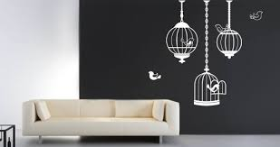 birds in cages wall stickers dezign with a z