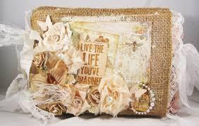 Burlap Photo Album Tiffanys Paper Designs Butterfly Garden Burlap Bag Album