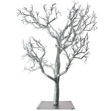 silver glitter twig tree 81cm decorations and supplies