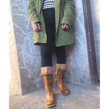 what to wear with light brown boots gonnue light brown boots preloved women s fashion shoes on carousell
