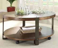 Rustic Round Coffee Table Living Room Awesome Round Rustic Coffee Table Within Modern