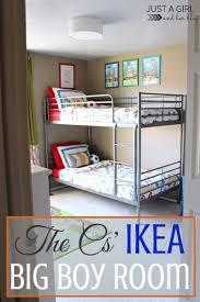 Bunk Bed Shelf Ikea The Cs U0027 Ikea Big Boy Room Reveal Just A Girl And Her Blog