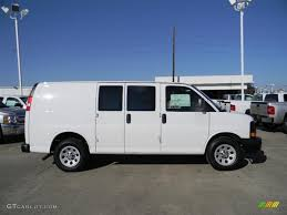 summit white 2012 chevrolet express 1500 cargo van exterior photo