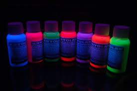 liquids that glow under black light uv blacklight aquacolor temporary hair dye