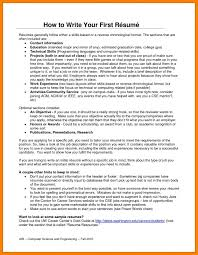 How To Create A Resume For Your First Job by How To Write Resume For Your First Job Advanced Excel Skills Resume