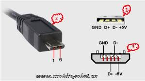 micro usb pin assignment