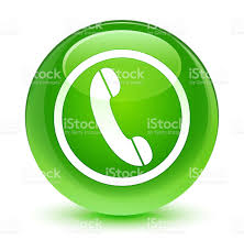 phone icon phone icon glassy green round button stock vector art 694825030