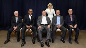 first five presidents lady gaga as president viral picture with ex presidents spurs chatter