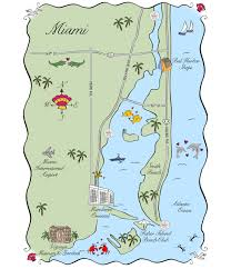 Map Of South Beach Miami by Maps And Totes U2013 Laura Hooper Calligraphy