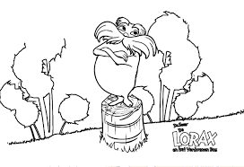 coloring page lorax coloring page decorative pages the printable