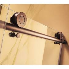 3 8 glass shower door wet republic part crsbs0348 orb mocha premium 3 8 thick clear