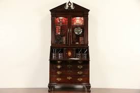 Cherry Secretary Desk by Sold Jasper Signed Vintage Cherry Secretary Desk U0026 Bookcase