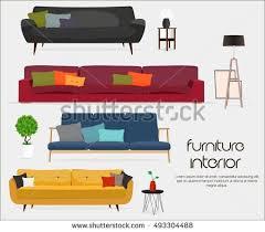 interior home accessories interior sofa sets home accessories furniture stock vector