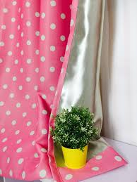 White With Pink Polka Dot Curtains New Dots Shade Cloth Curtains Pink Color With White Dots Curtains