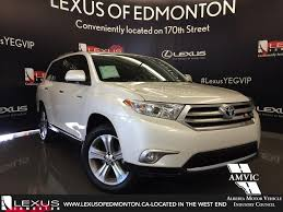 toyota lexus used car used 2013 white toyota highlander 4wd limited in depth review