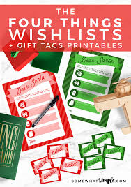 the christmas wish list christmas wish list santa letters and gift tag printables