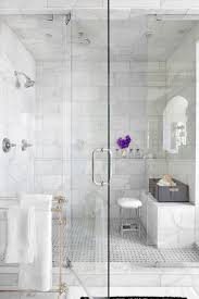 Bathroom Shower Stool Stunning Traditional Bathroom Shower Bench Features Marble Walls