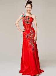 wedding evening dresses one shoulder cheongsam qipao wedding evening dress