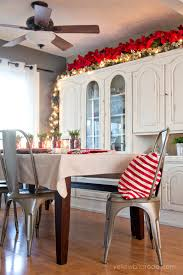 Decorations For Above Kitchen Cabinets Lights And Greenery Above The Kitchen Cabinets U0026 Wreaths Hanging