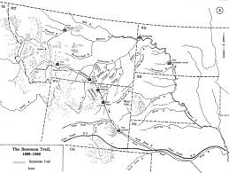 Montana County Map by A Brief History Of The Bozeman Trail Wyohistory Org