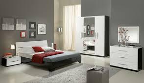 meuble blanc chambre chambre complete gloria laquée noir et blanc blanc noir