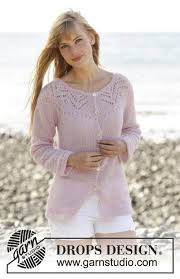 s sweater patterns knitted drops jacket with lace pattern yoke and vents in