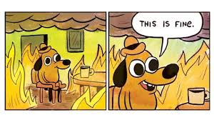 All Meme Pictures - this is fine meme dog being turned into a plushie geek com
