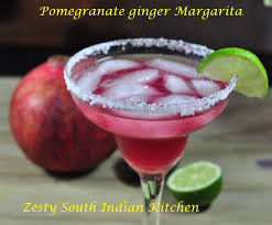 pomegranate margarita pomegranate ginger margarita zesty south indian kitchen