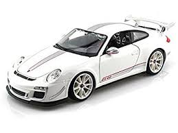 porsche 911 white amazon com porsche 911 gt3 rs 4 0 1 18 white toys