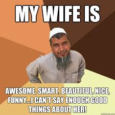 Funny Wife Memes - my wife is awesome smart beautiful nice funny i can t say