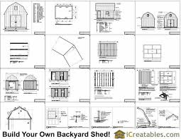 Gambrel House Floor Plans 12x16 Gambrel Shed Plans 12x16 Barn Shed Plans
