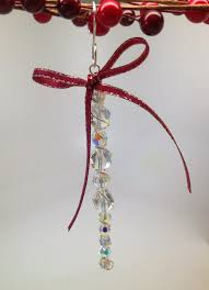 softflexgirl diy holidays beaded icicle ornament using