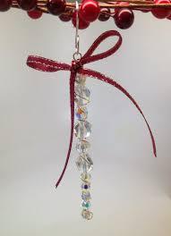 softflexgirl diy holidays crystal beaded icicle ornament using