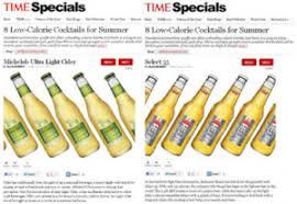 michelob ultra light calories time com hails michelob ultra light cider and select 55 as top low