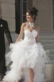 robe mariã e courte robe de mariée jupe en tulle courte devant et longue derriére