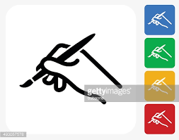 Painting Icon Paint Brush Icon Flat Graphic Design Vector Art Getty Images