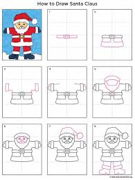 santa claus art projects for kids