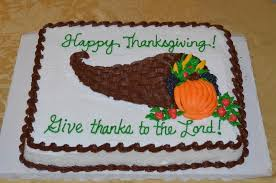 happy thanksgiving give thanks to the lord cornucopia themed