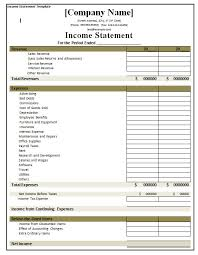 better financial performance by using income statement template